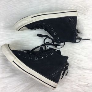 Converse high top suede back zip all stars